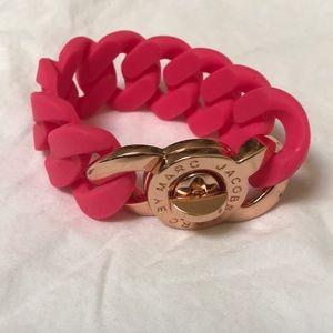 Marc by Marc Jacobs Pink Rubber Bracelet